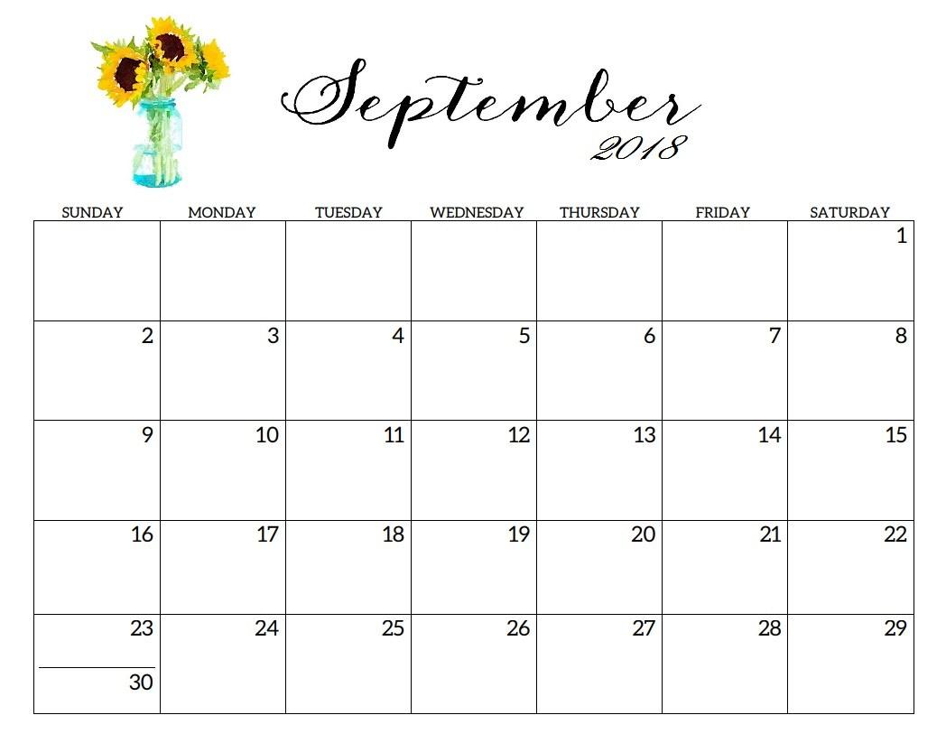 Blank Printable September Calendar 2019 Templates Word Excel Pdf pertaining to September Calendar Printable Template Blank