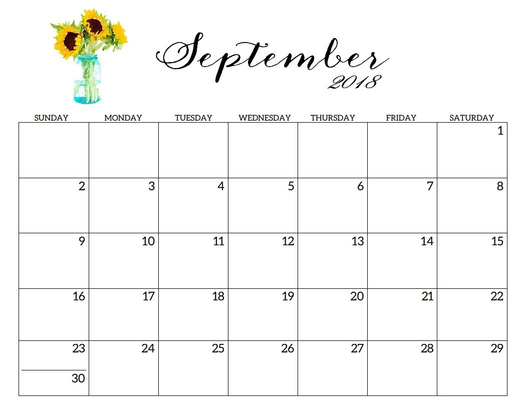Blank Printable September Calendar 2019 Templates Word Excel Pdf with regard to Printable Blank September Calendar