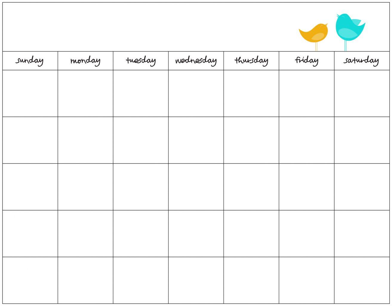 Blank Schedule Template Monthly Calendar Pdf November   Smorad regarding Printable July Employee Template
