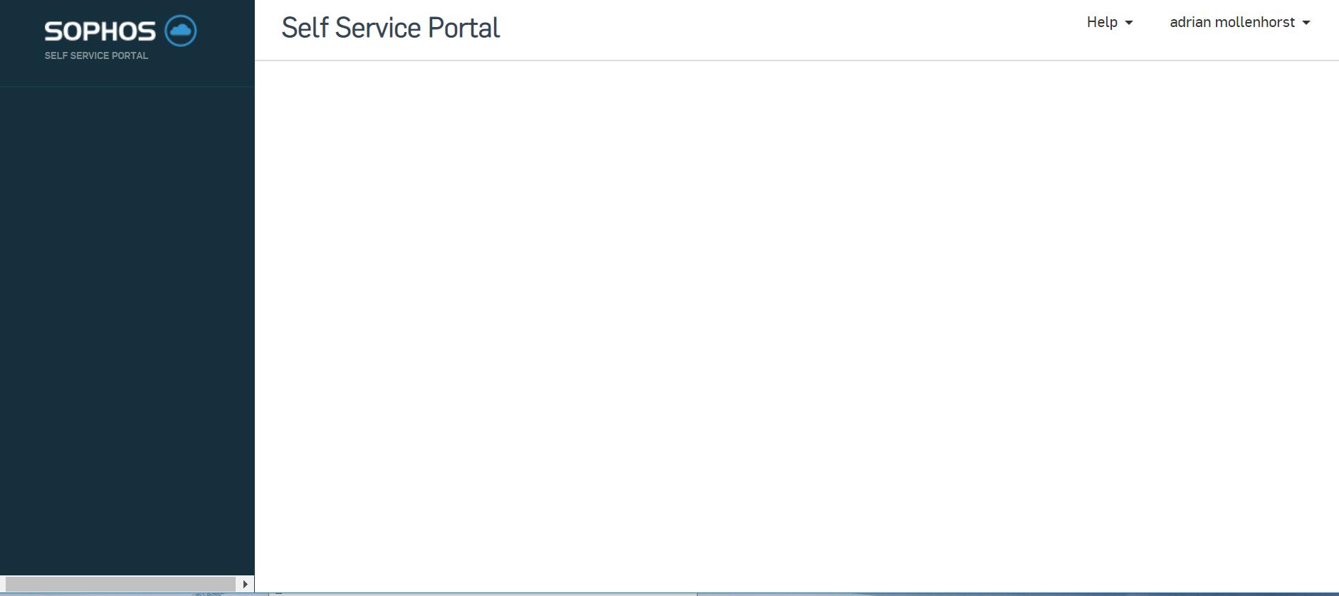Blank Self Service Portal - Sophos Central - Sophos Central - Sophos intended for Blank My Account Information Logs