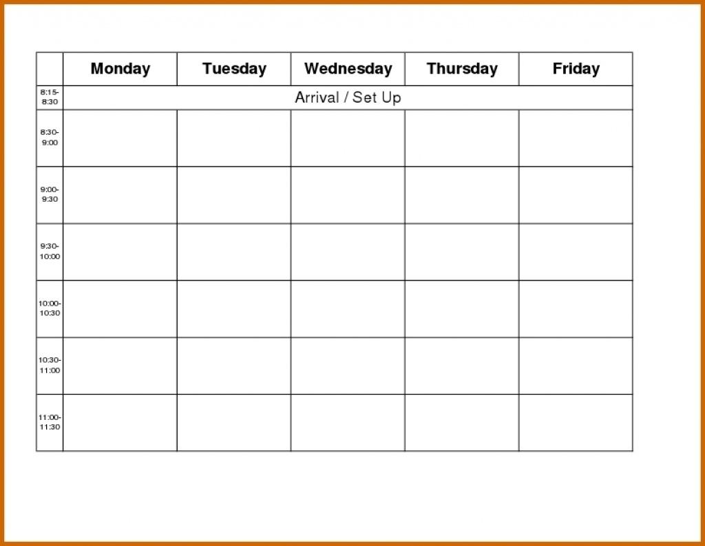 Blank Weekly Calendar Day Through Friday Sunday To Saturday Free for Blank Weekly Monday Through Friday Calendar Template