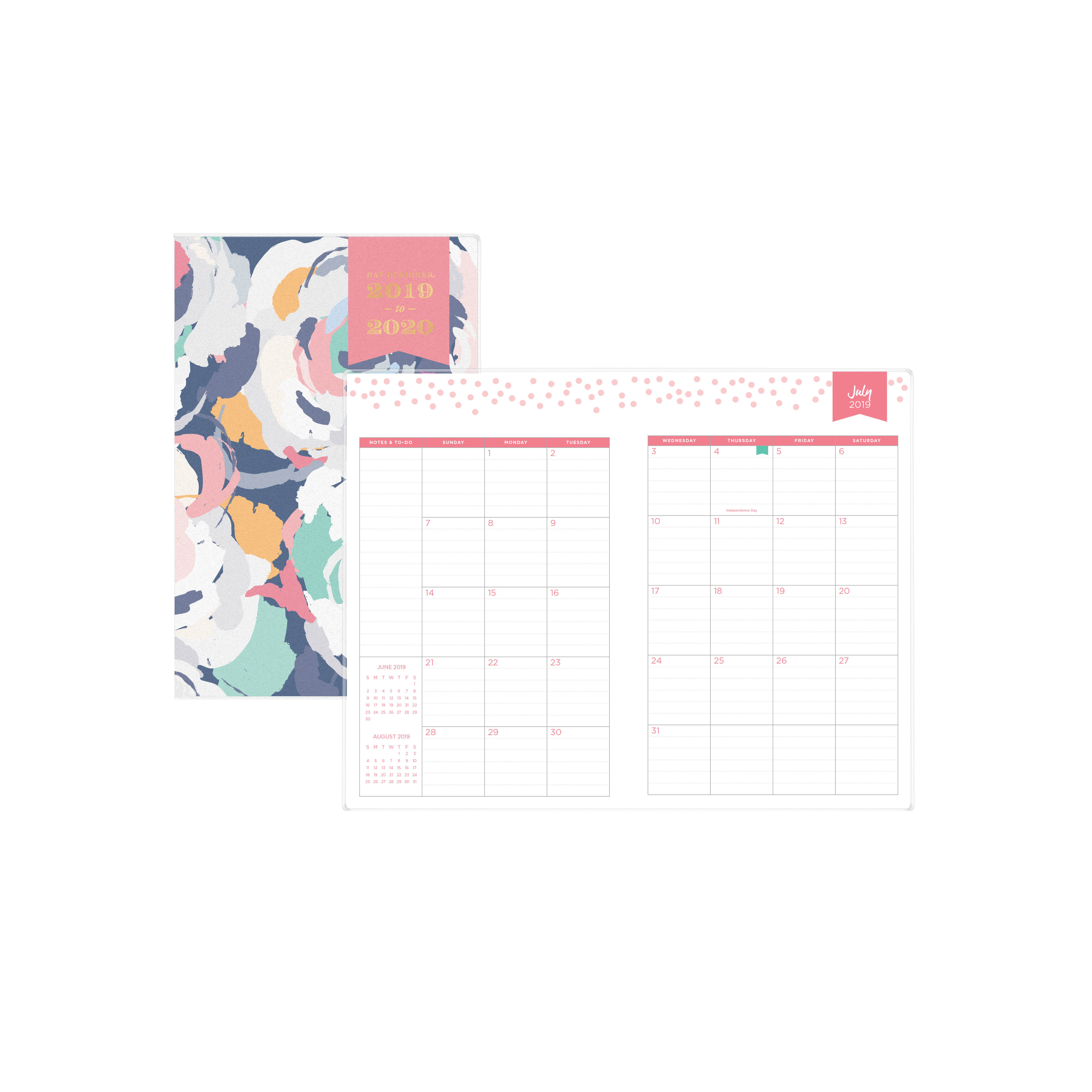"Blue Sky 5.5"" X 8.5"" Monthly Planner, July 2019-June 2020 - Walmart with regard to 2020 Calendar For 5.5 X 8.5"