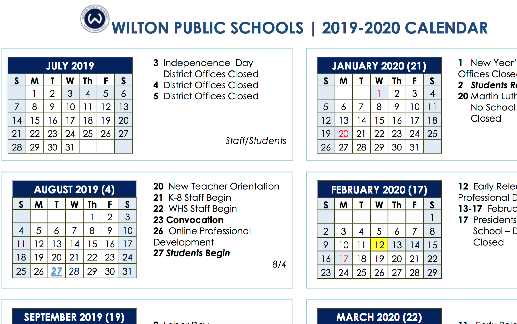 Board Of Education Approves 2019-2020 And 2020-2021 School Year regarding 2019/2020 Academic 2 Column Calendar 2019/2020