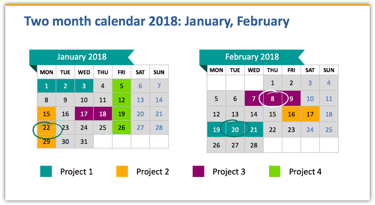 Boost Your Presentation With Calendar Graphics - Blog - Creative with regard to Monthly Calendar Powerpoint Template