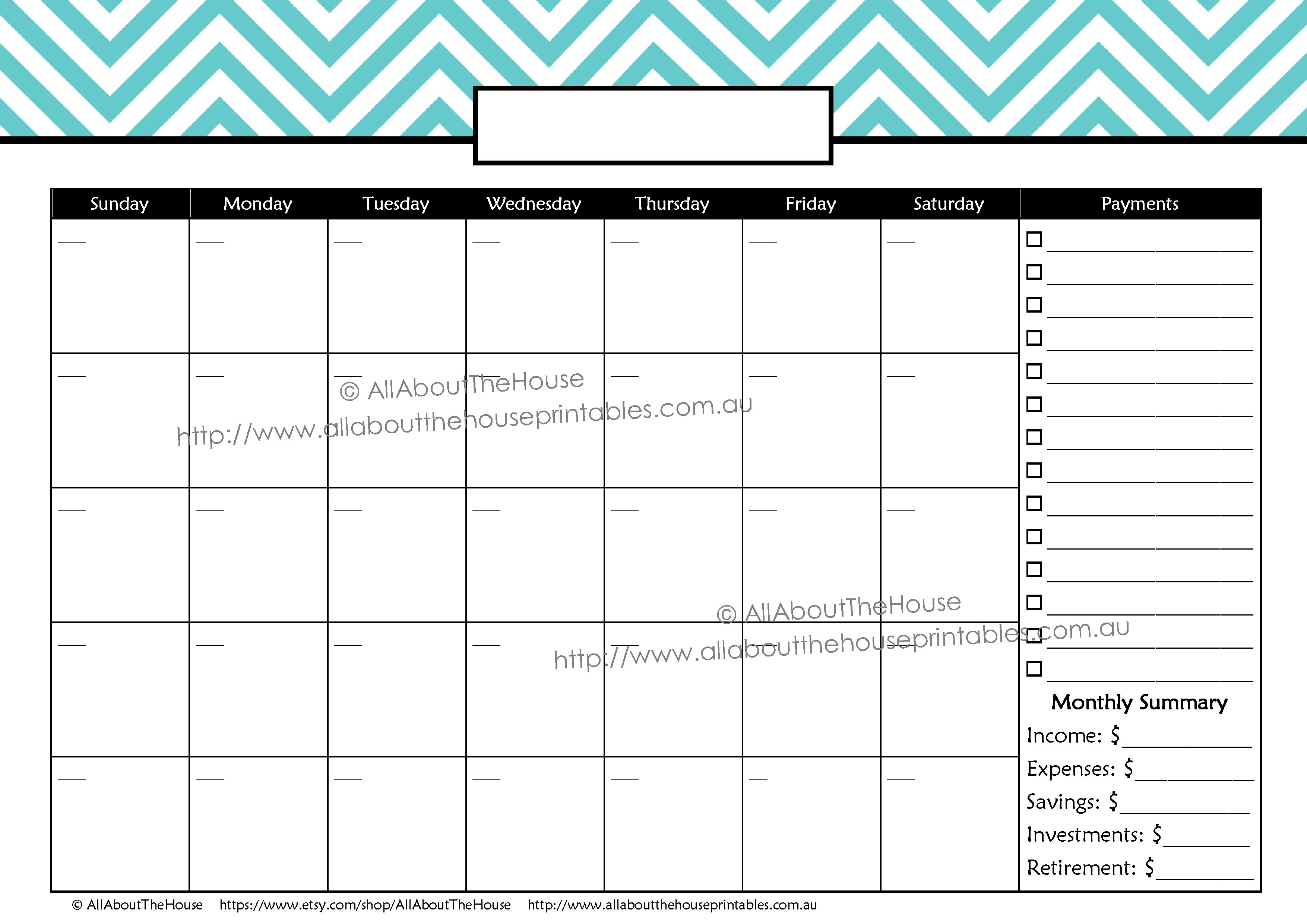 Bpay Planner | Allaboutthehouse Printables within Salary And Bill Payment Schedule Template Printable