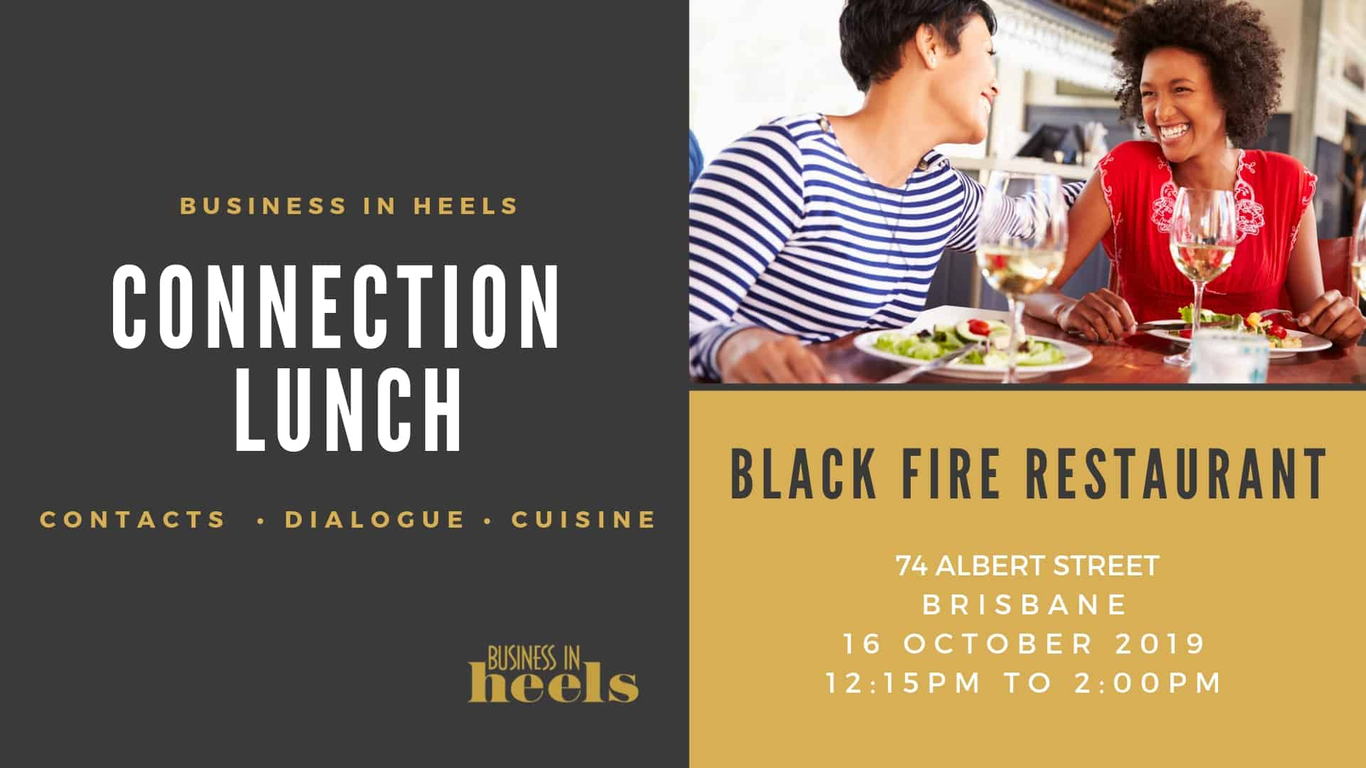 Brisbane Cbd - October 2019 Connection Lunch - Business In Heels Events in Community Calender Sydney October 2019