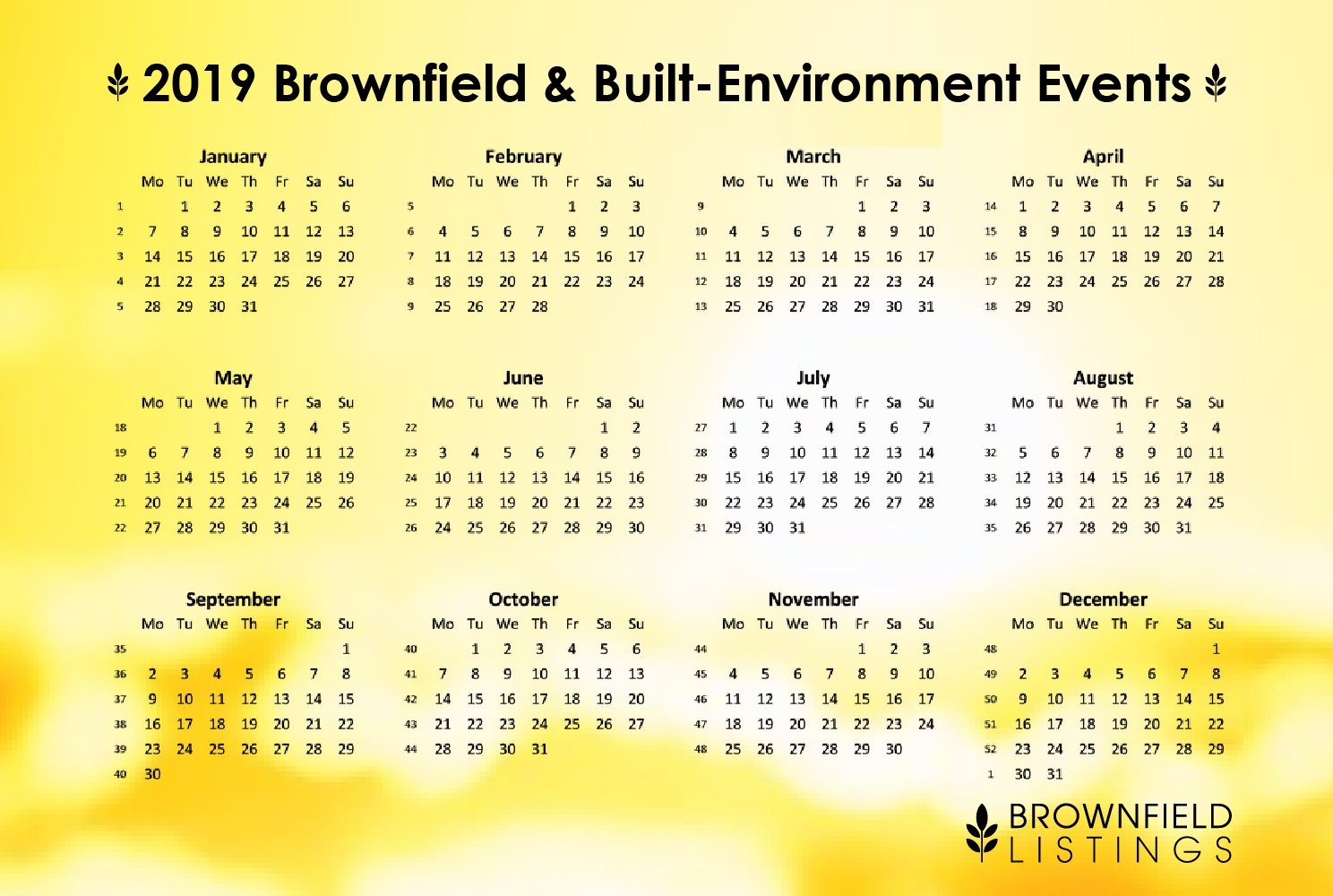 Brownfield Listings   2019 Brownfield Conferences And Built regarding Community Calender Sydney October 2019
