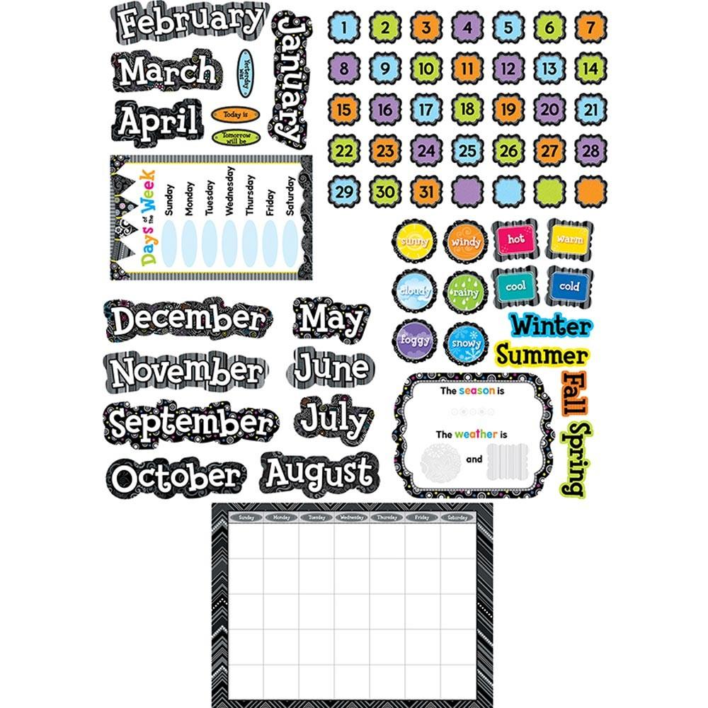 Bw Calendar Set in Blank Calendar Chart For Classrooms