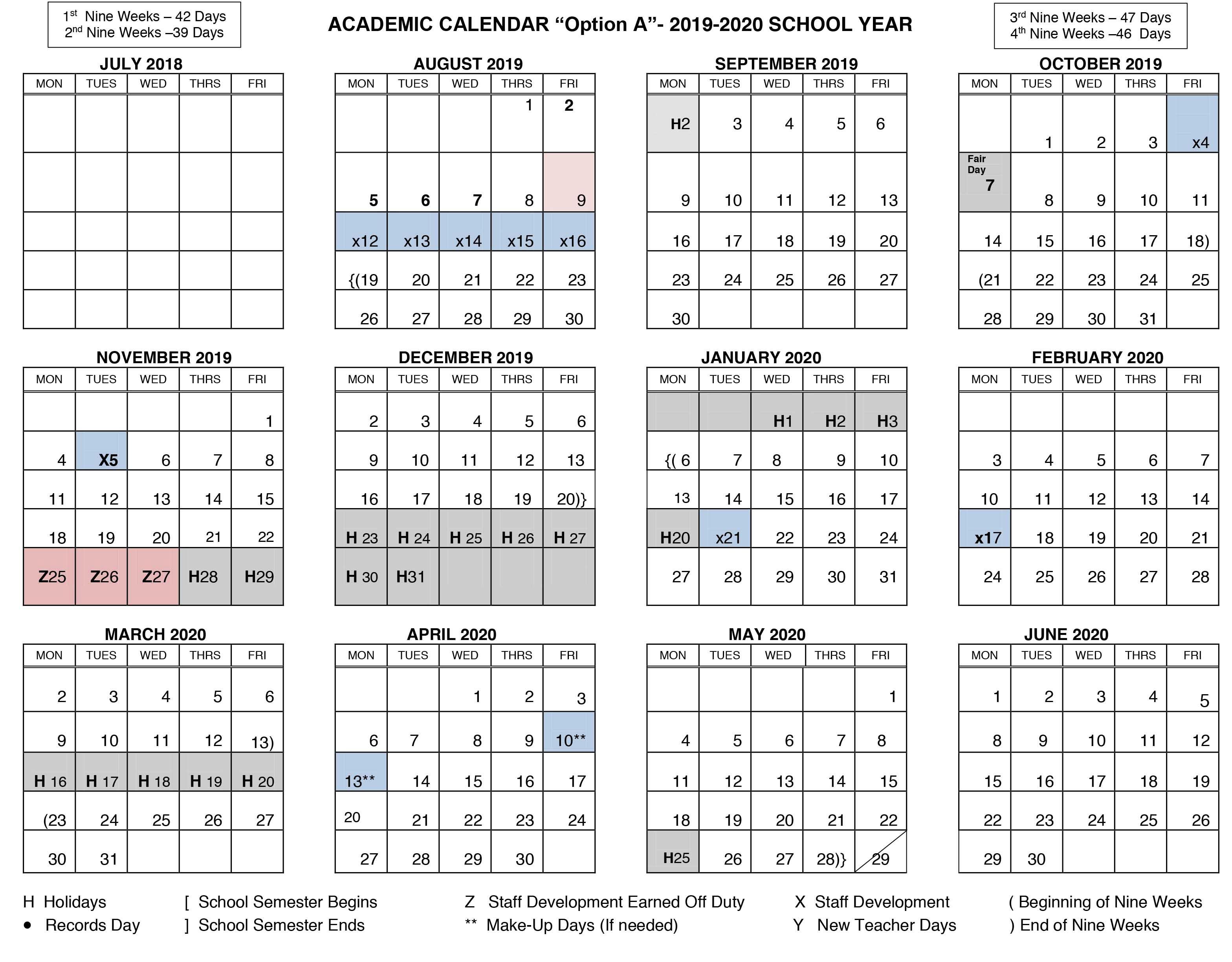 Calendar 2020 Canada Pdf - 2019 Calendar pertaining to Canadian Printable Academic Calendar 2019-2020