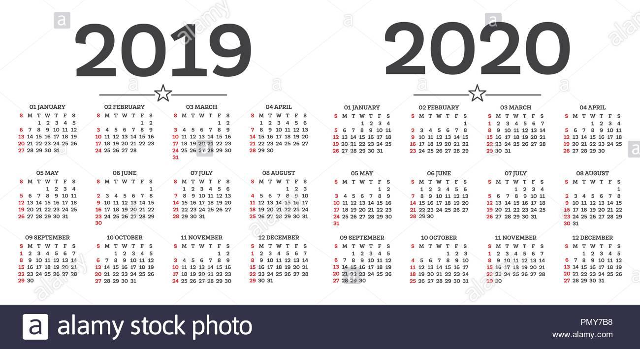 Calendar 2020 Stock Photos & Calendar 2020 Stock Images - Alamy with Calendar 2019 2020 With Boxes
