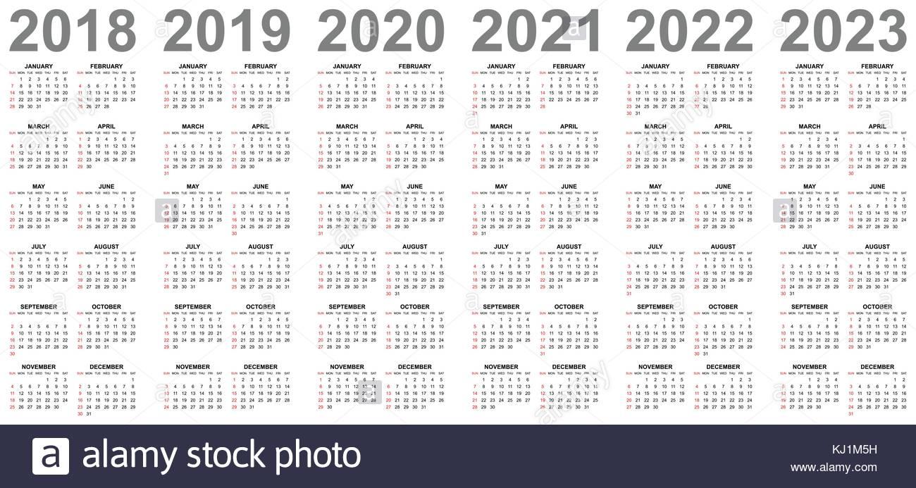 Calendar 2020 Stock Photos & Calendar 2020 Stock Images - Alamy with regard to Free Prinable Calenders 2020 To 2023