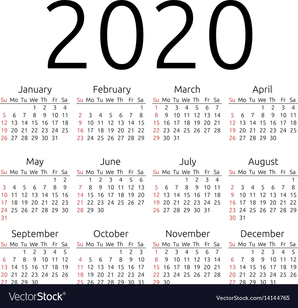 Calendar 2020 Sunday regarding 2020 Calendar Monday To Sunday