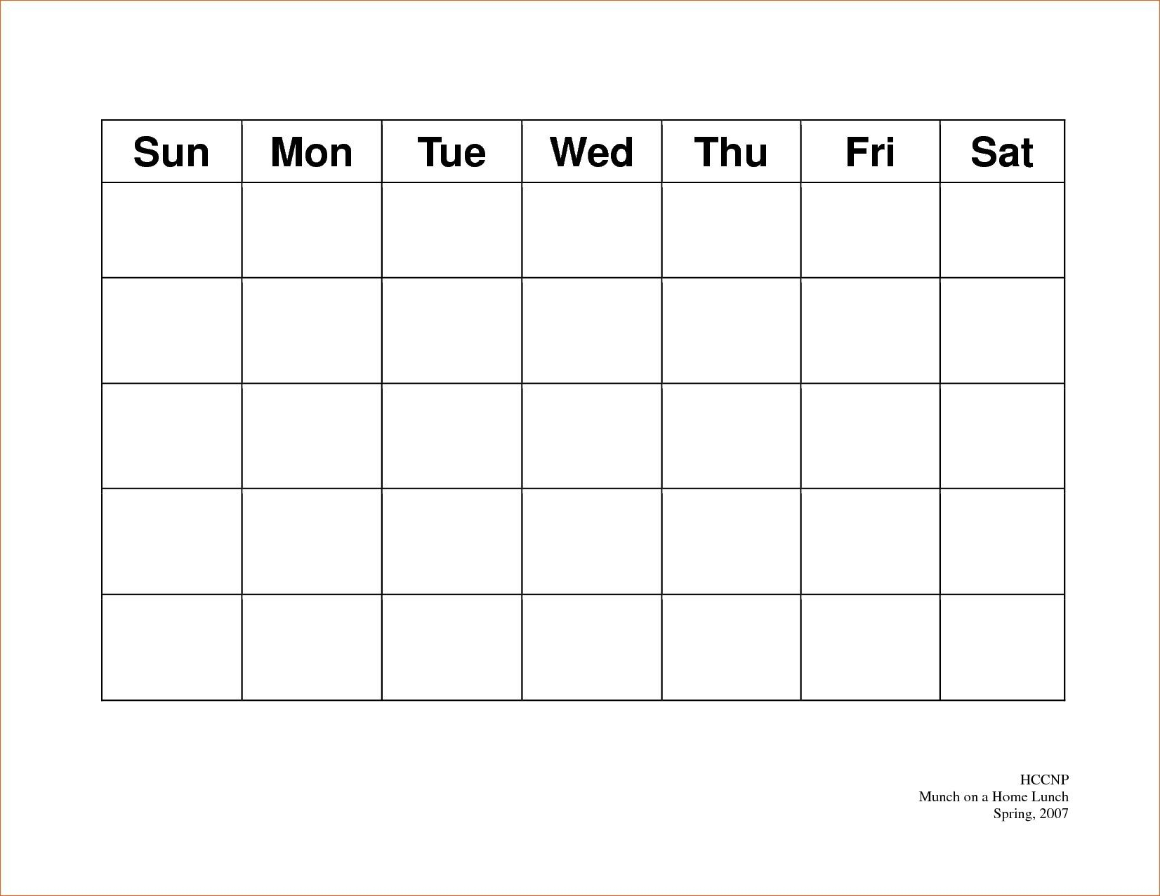 Calendar 5 Day Weekly Calendar Template On 5 Week Calendar Template with regard to 5 Day Weekly Calendar Template