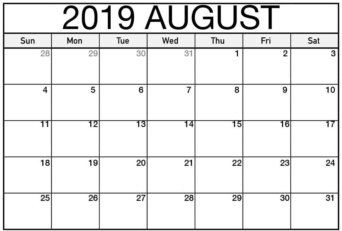 Calendar August 2019 Australia - Free Printable Calendar, Blank throughout Blank Calendar August Template Australia