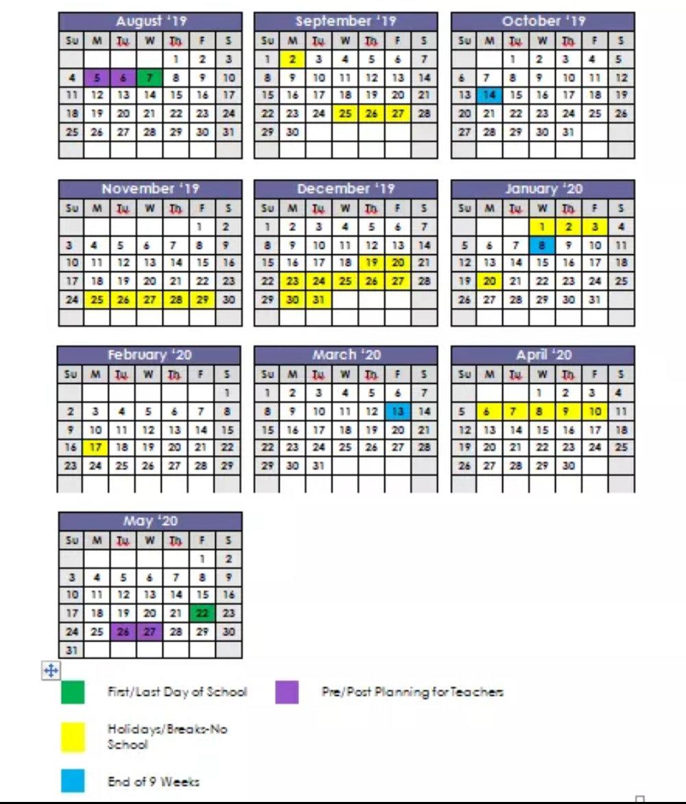 Calendar — Jackson Trail Christian School within Calendar For 2019 And 2020 To Edit
