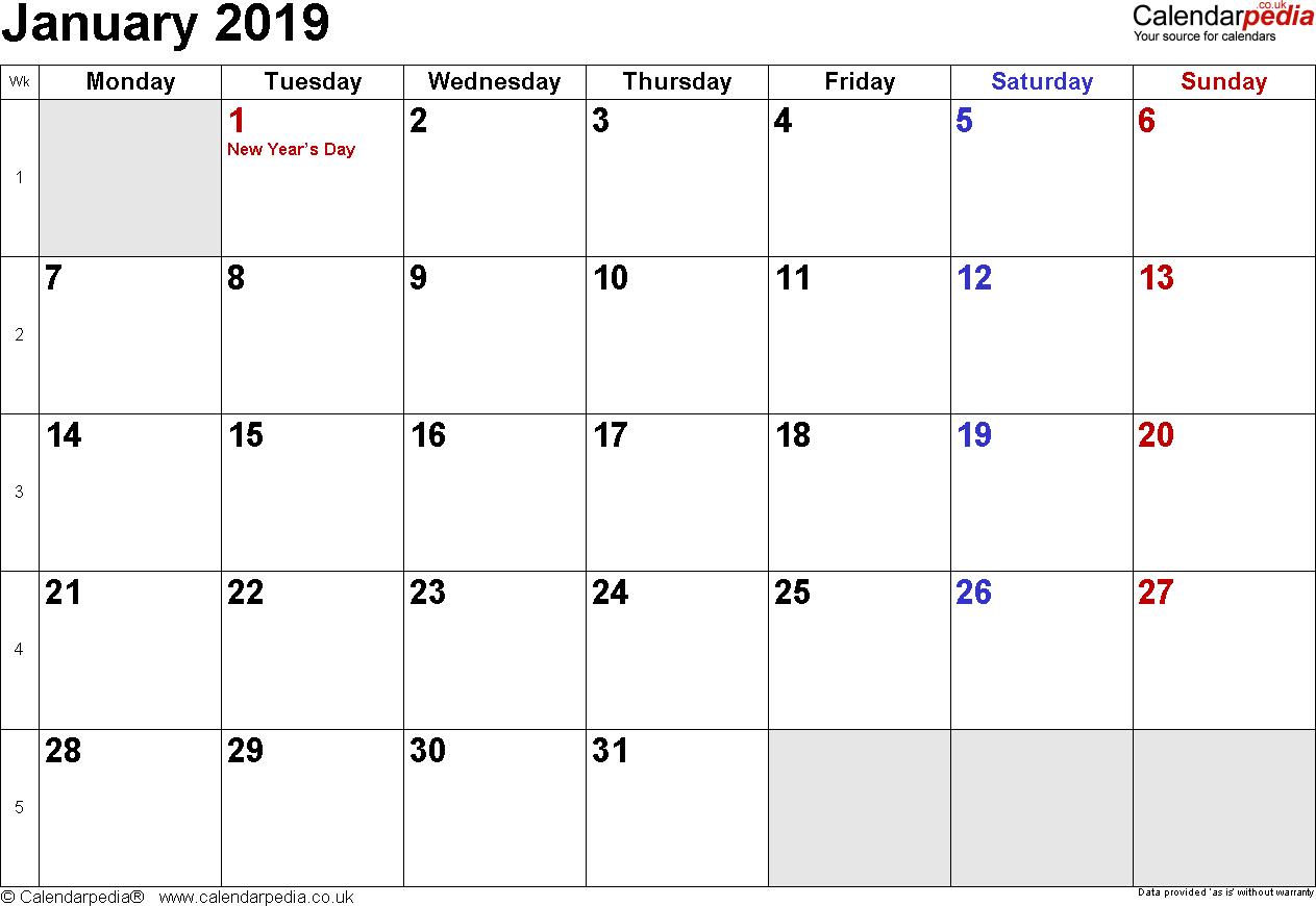 Calendar January 2019 Uk, Bank Holidays, Excel/pdf/word Templates with Microsoft November Calendar Templates