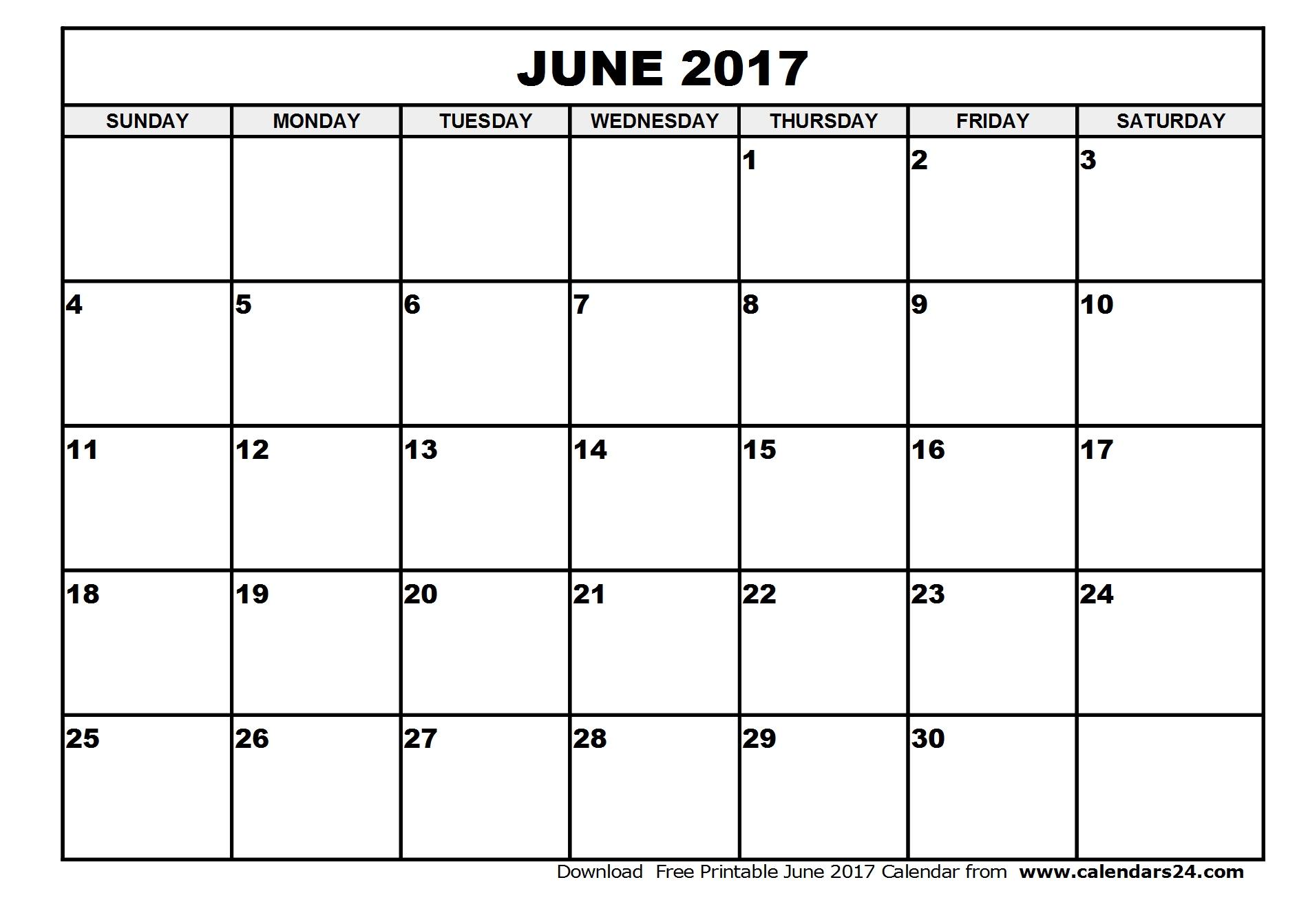 Calendar June And July 2017 - Bgadv for Blank Calendar June July