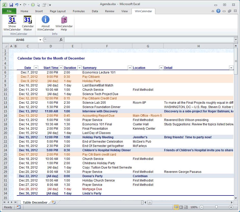 Calendar Maker & Calendar Creator For Word And Excel in Online Work Schedule Template Word