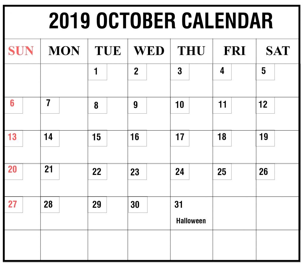 Calendar October 2019 Pocket Calendar | Calendar Format Example throughout Calendar October 2019 Pocket Calendar
