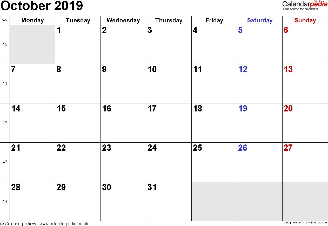 Calendar October 2019 Uk, Bank Holidays, Excel/pdf/word Templates pertaining to Calendar October 2019 Pocket Calendar