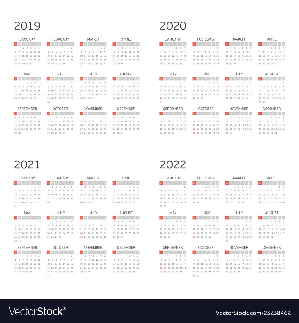Calendar On 2019 2020 2021 2022 with regard to Edit Free Calendar Template 2019-2020
