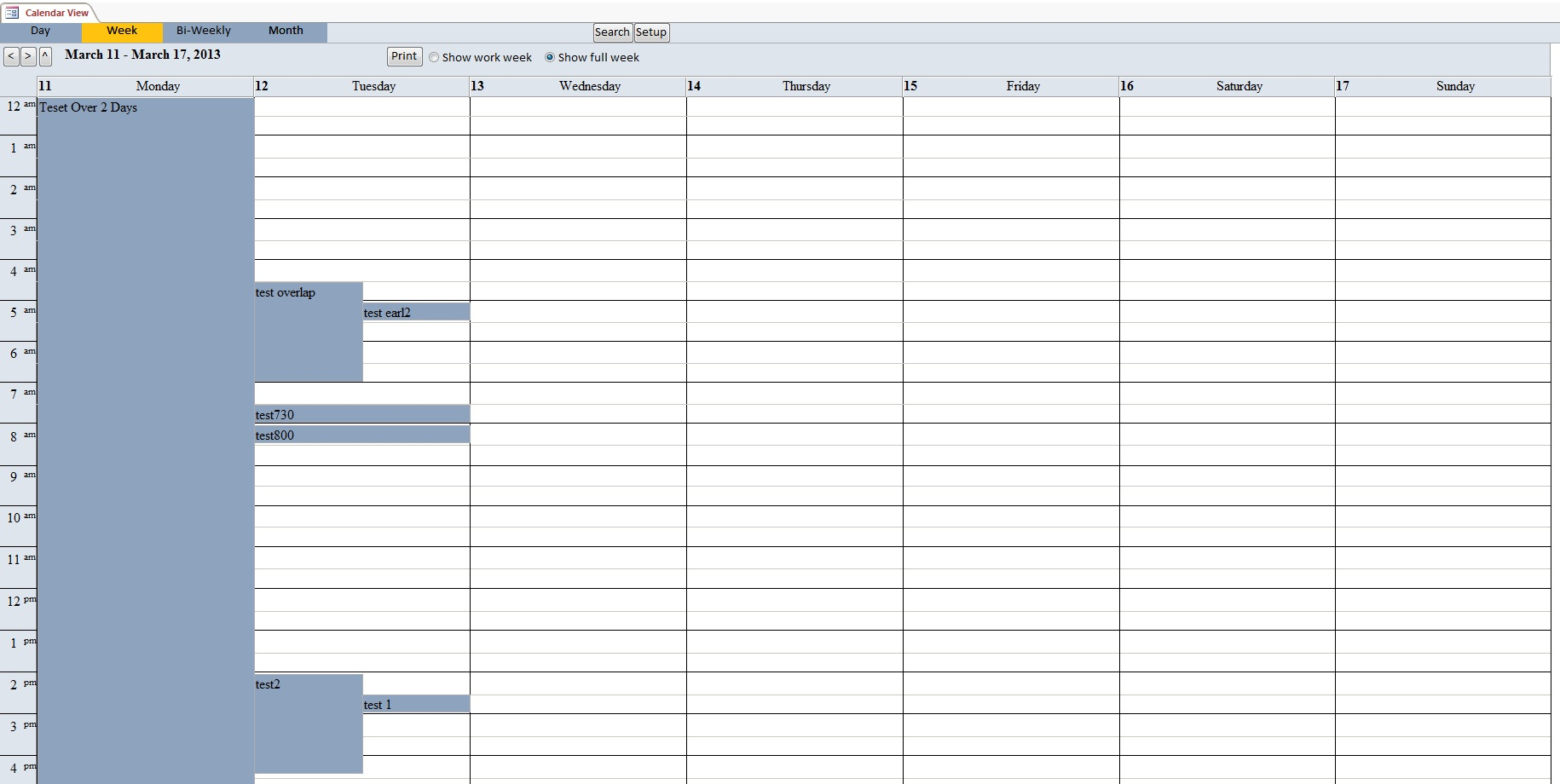 Calendar Scheduling Database Template | Calendar Database in Outlook Calendar Template 5 Week