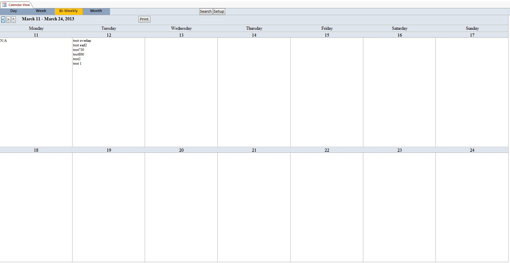 Calendar Scheduling Database Template | Calendar Database with Outlook Calendar Template 5 Week