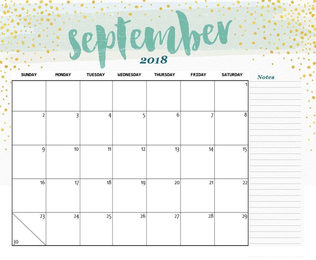 Calendar September 2018 Template | Задачи | Календарь, Сентябрь И within Monday Sunday Calendar Template September
