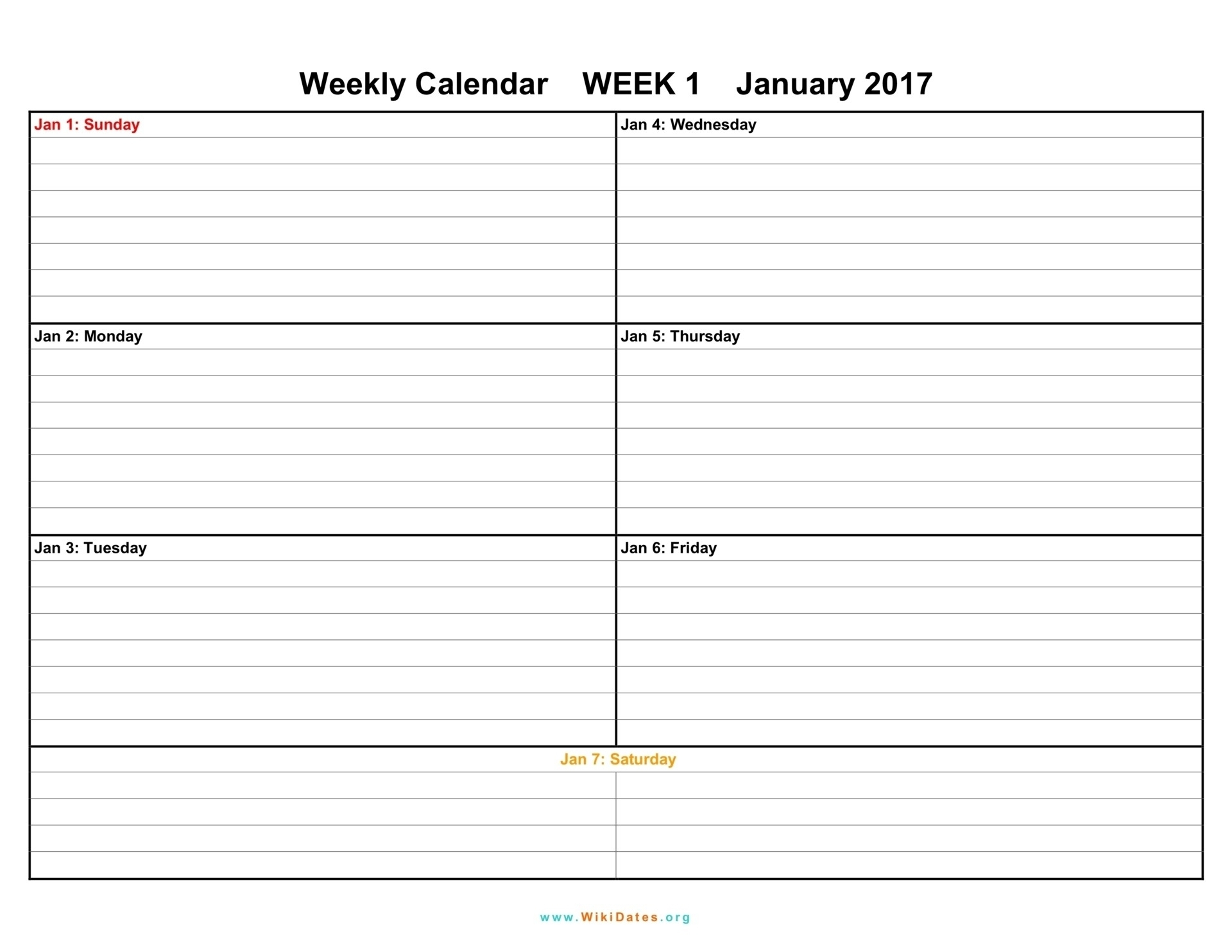 Calendar Template 1 Week – Get Your Calendar Printable intended for 1 Week Blank Calendar Template