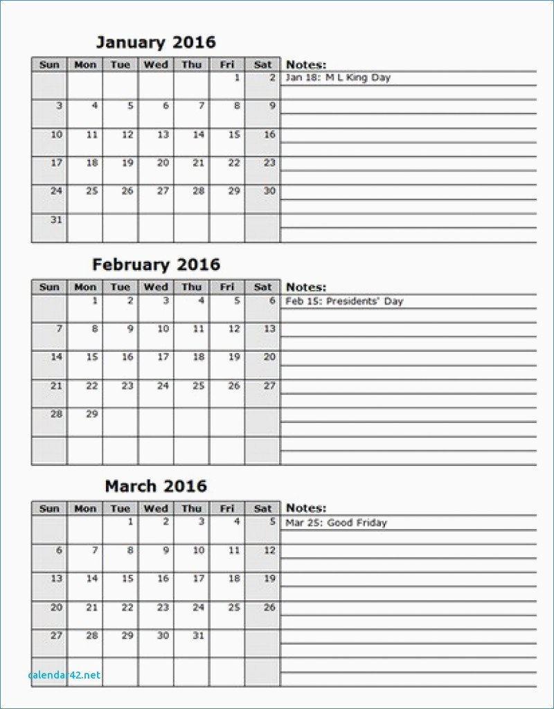 Calendar Template 3 Months Per Page - Free Calendar Collection in Calendar Template 3 Months Per Page