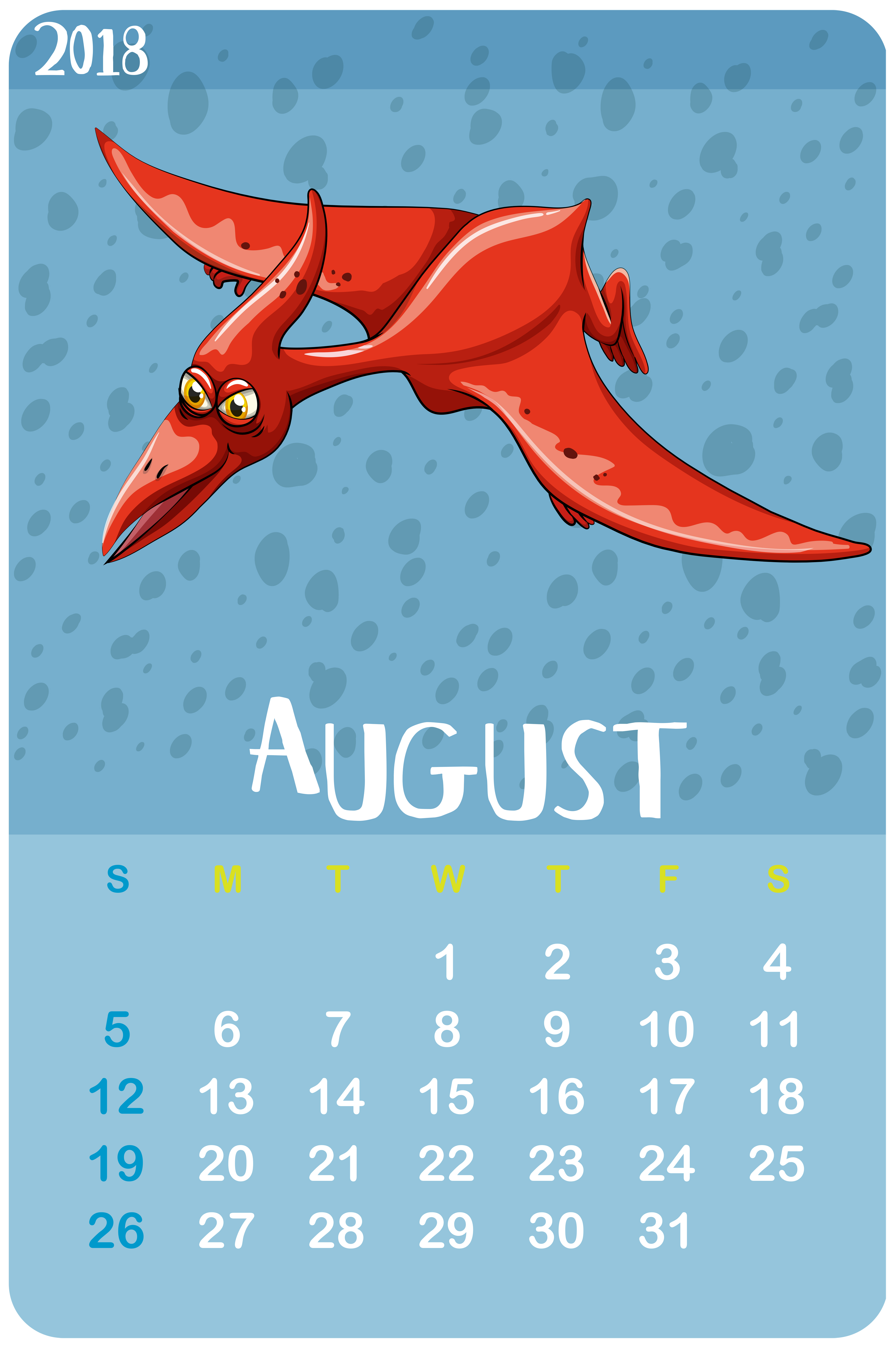 Calendar Template For August - Download Free Vector Art, Stock regarding Aug Calendar Clip Art Template