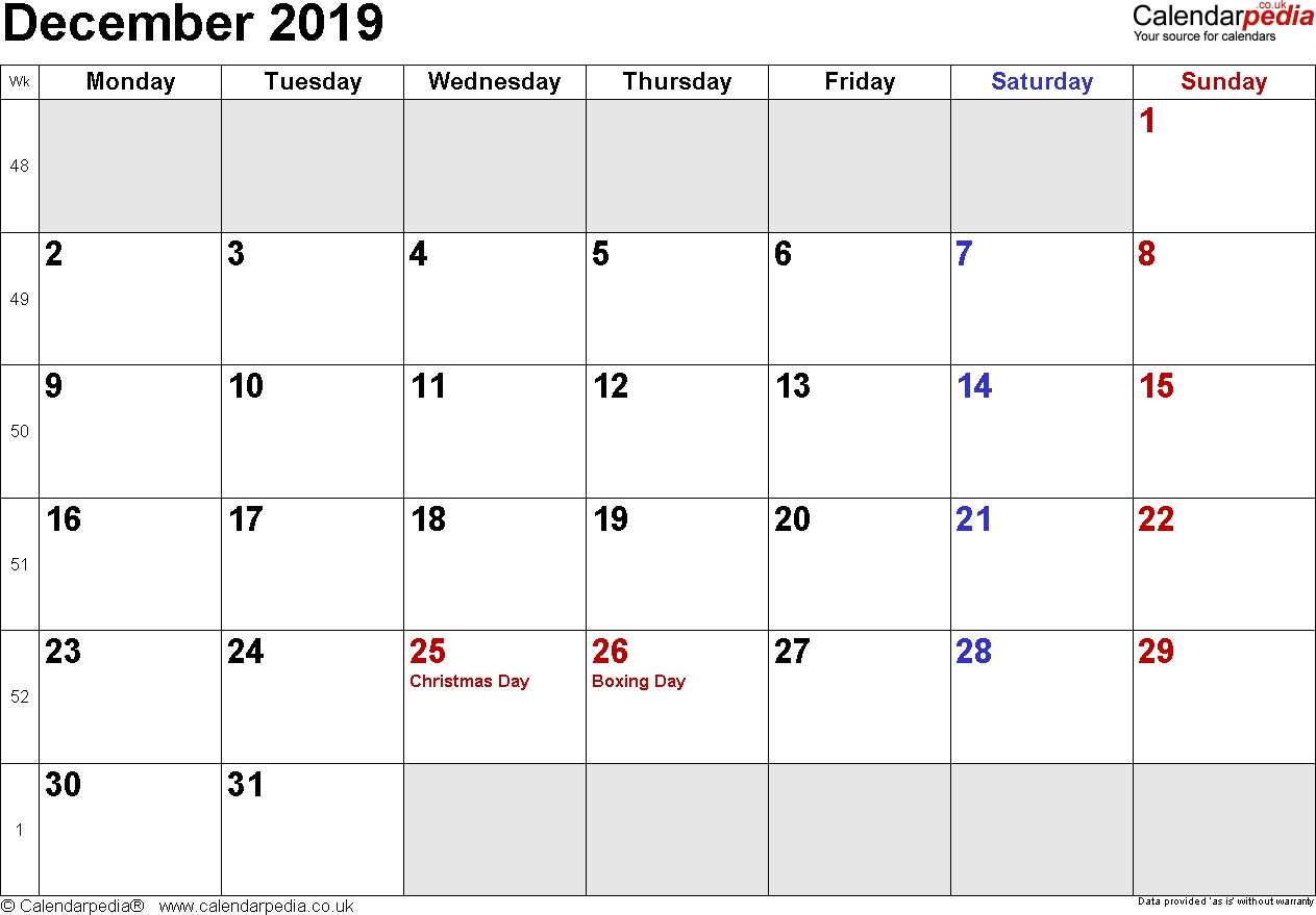 Calendar Template Nov And Dec 2019 • Printable Blank Calendar Template with Monthly Calendar Template Novb