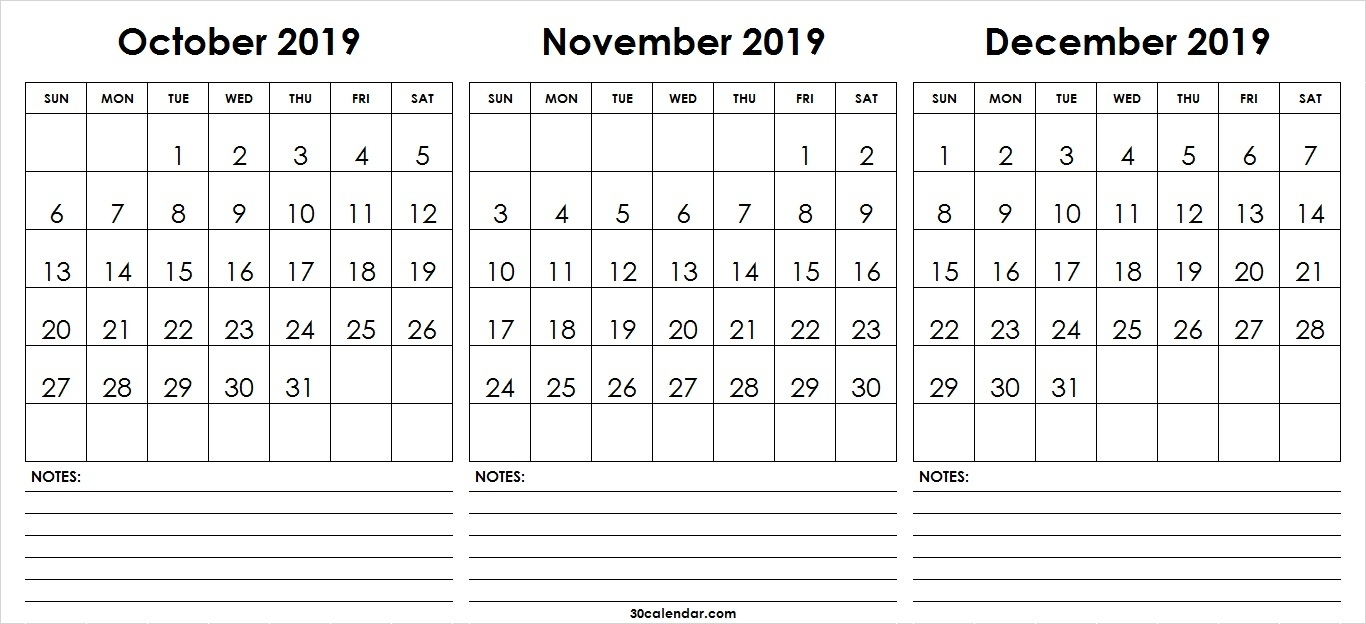 Calendar Template Nov And Dec 2019 • Printable Blank Calendar Template within Monthly Calendar Template Novb