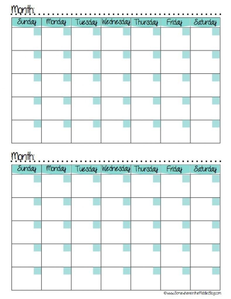 Calendars 2 Months Per Page Seven Photo And Month Calendar Printable in 2 Month Calendar Template Printable