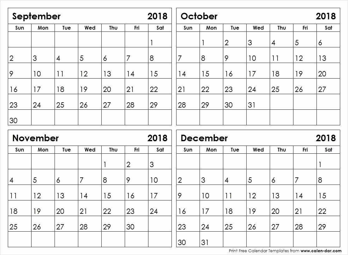 Calendars 2018 August Through December | Calendar Format Example with regard to Calendar For October Thru December 2019