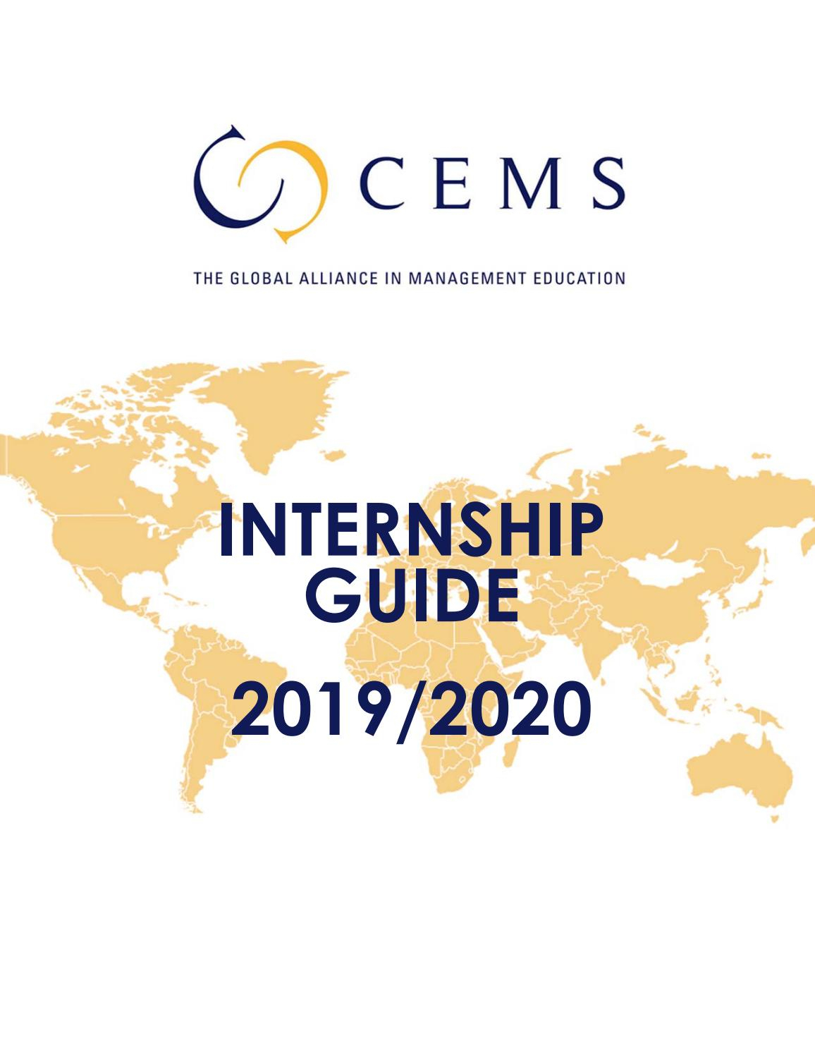 Cems Internship Guide 2019-20Cems - Issuu with Nus 2019-2020 Term Start Date