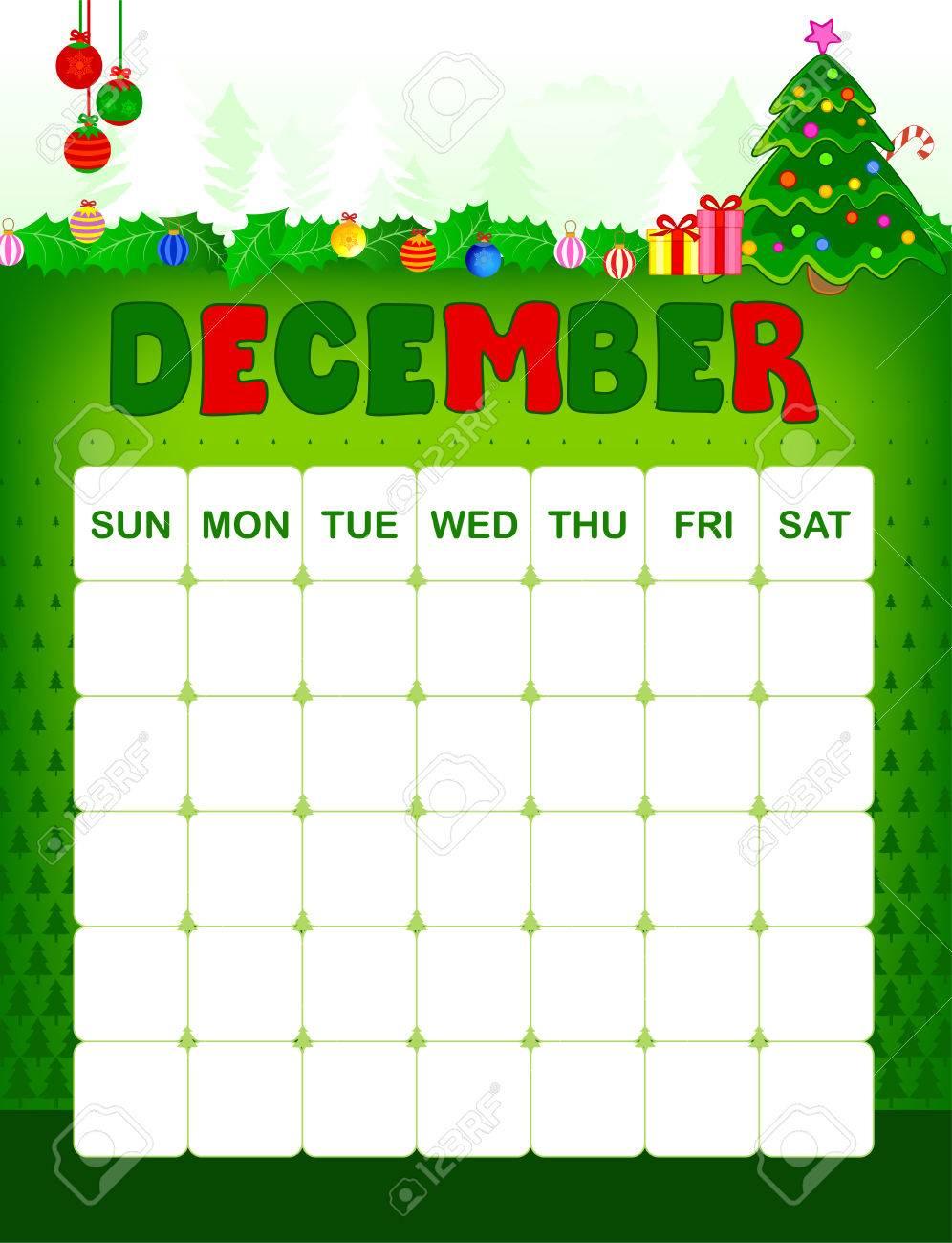 Colorful Wall Calendar Page Template With Seasonal Graphics For.. regarding Christmas Themed Calendar Templates