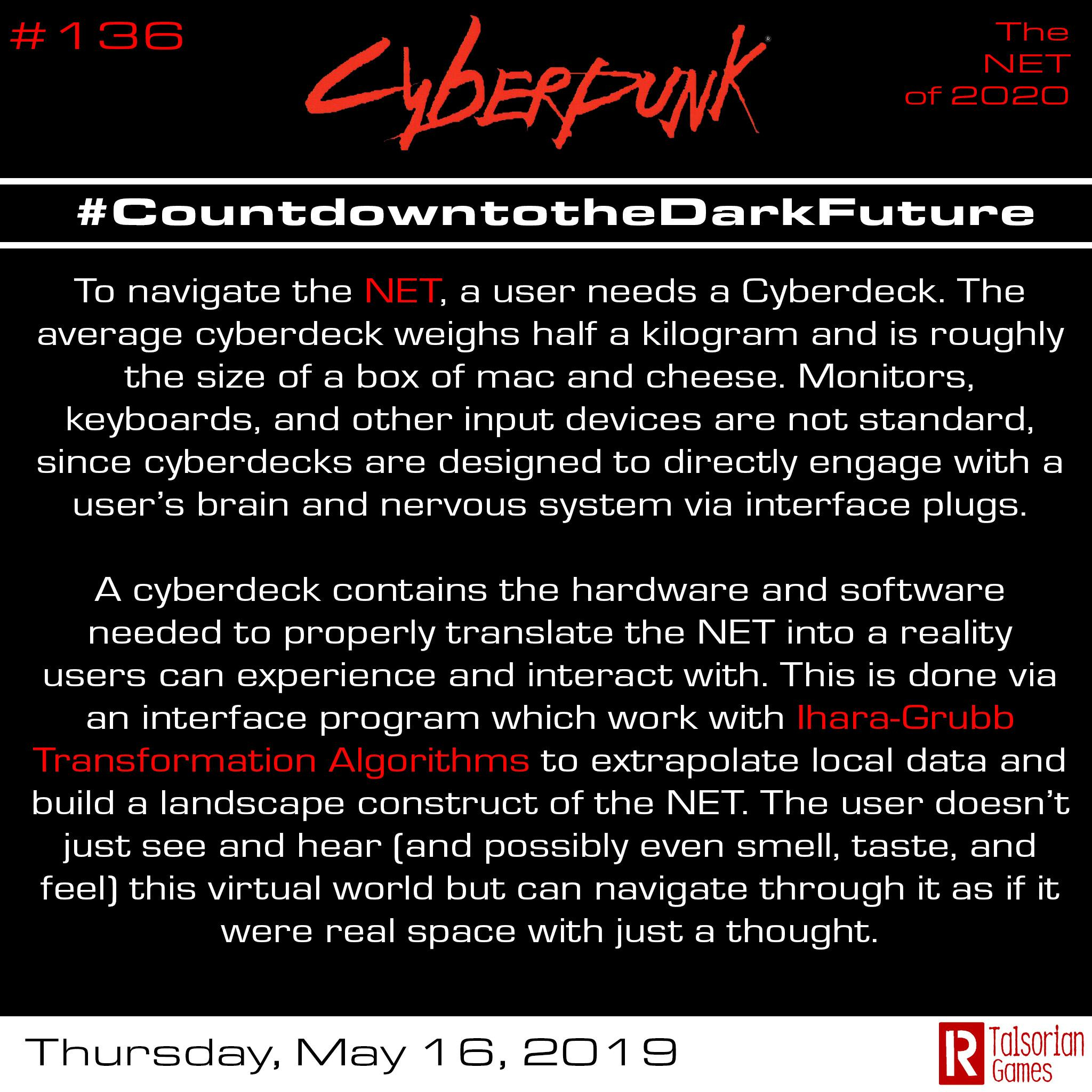 Countdown To The Dark Future (365 Days Of Cyberpunk Facts) Day 136 for Special Days Of The Year 2020