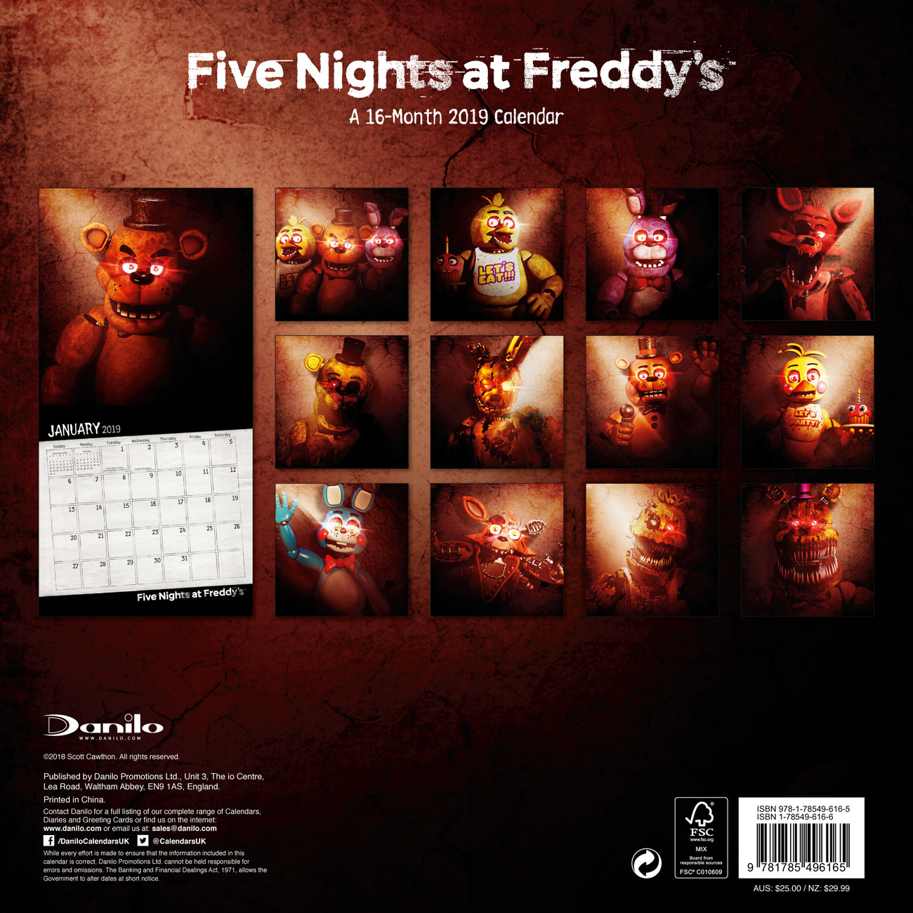 Календар 2020 Five Nights At Freddys for Free Calendar For 2020 Peclia.com