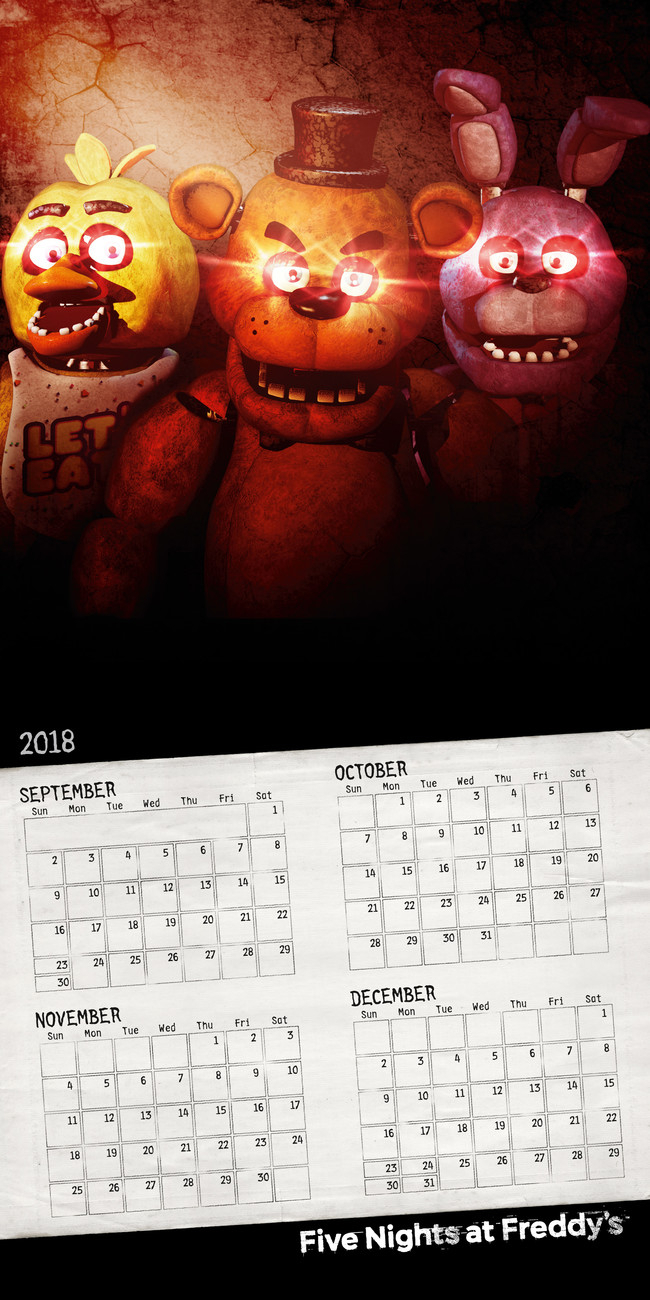 Календар 2020 Five Nights At Freddys with regard to Free Calendar For 2020 Peclia.com
