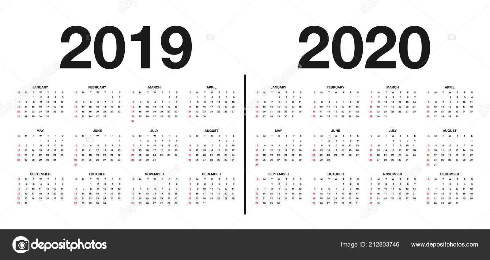 Шаблон Календаря 2020 | Календарь 2019 2020 Шаблон Дизайн Календаря regarding Calendar For Rest Of 2019 And 2020