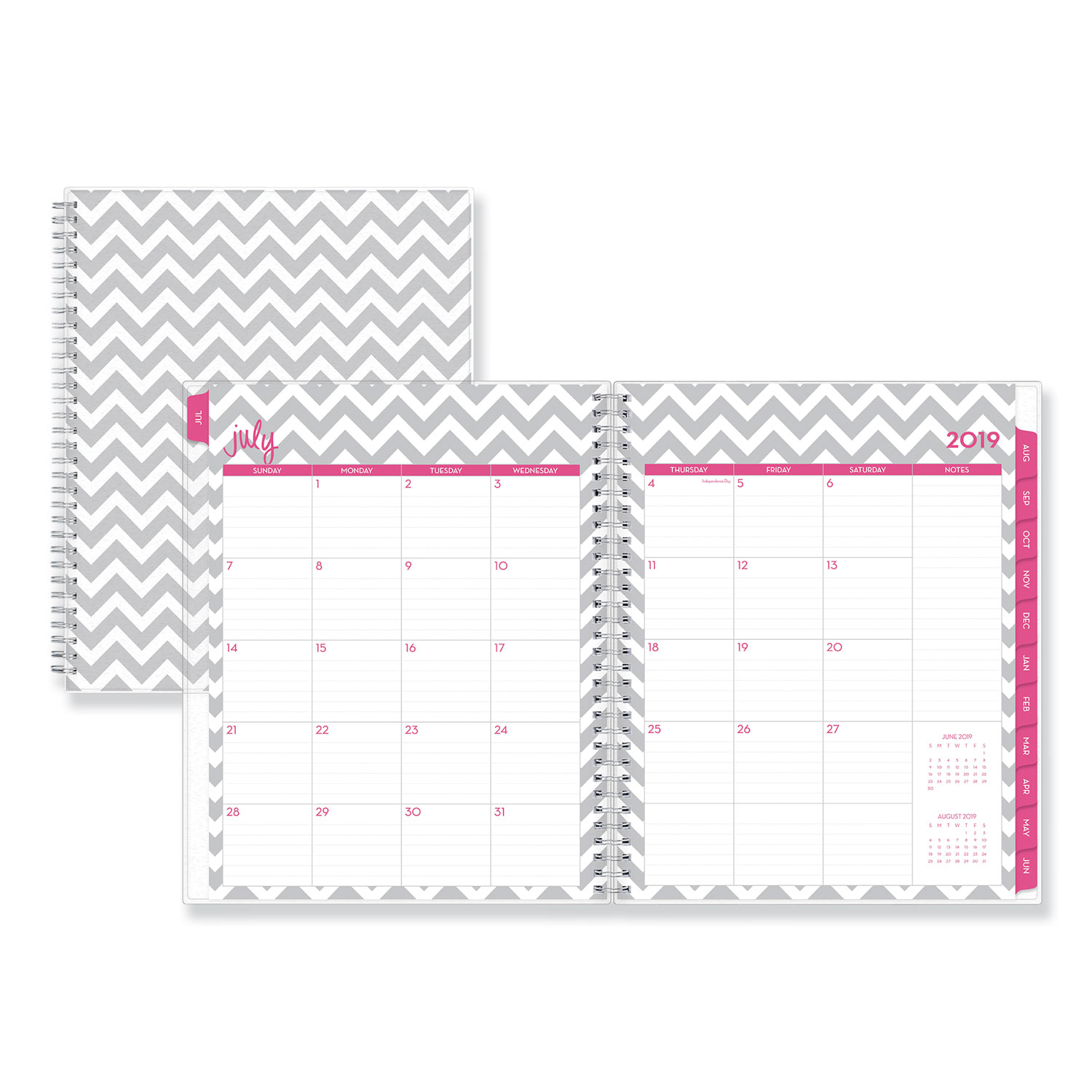 Dabney Lee Ollie Academic Weekly/monthly Planner, Gray Chevron, 8.5 for 8.5 X 11 Calander Filler For 2020