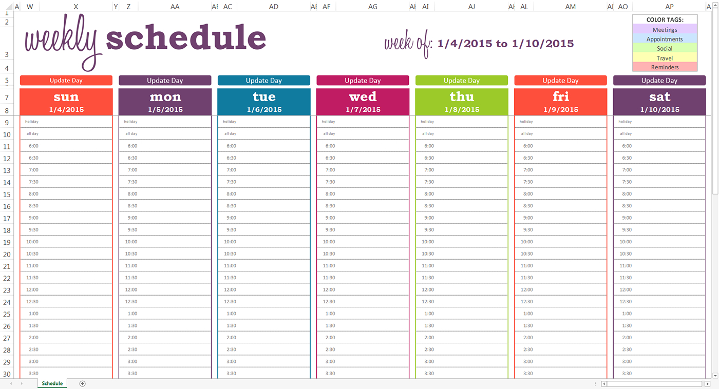 Daily Planner With Time Slots Template – Printable June July for Weekly Calendar With Time Slots Template