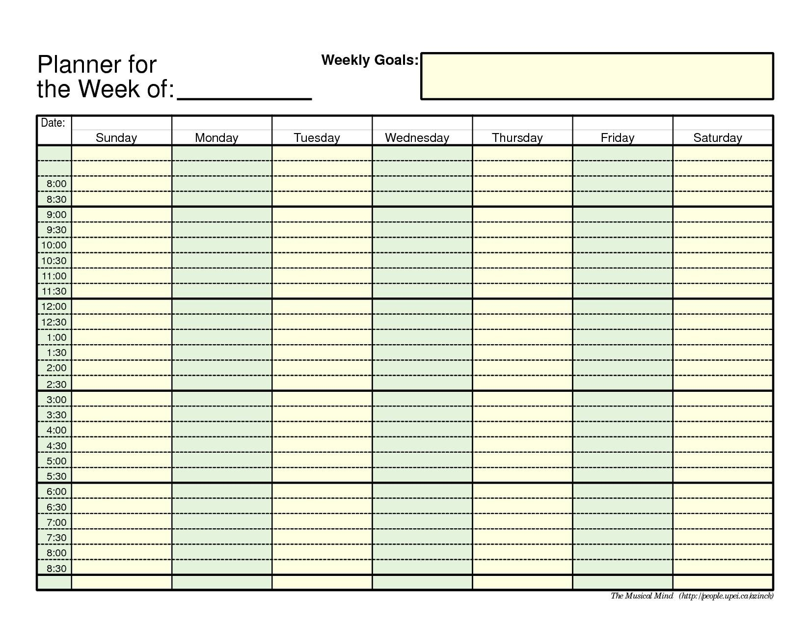 Daily Schedule With Time Slots | Template Calendar Printable with Blank Daily Schedule With Time Slots