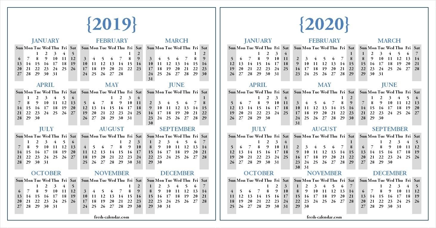 Dashing Printable Calendar For 2019 And 2020 • Printable Blank inside Printable Yearly Calendar June 2019-2020