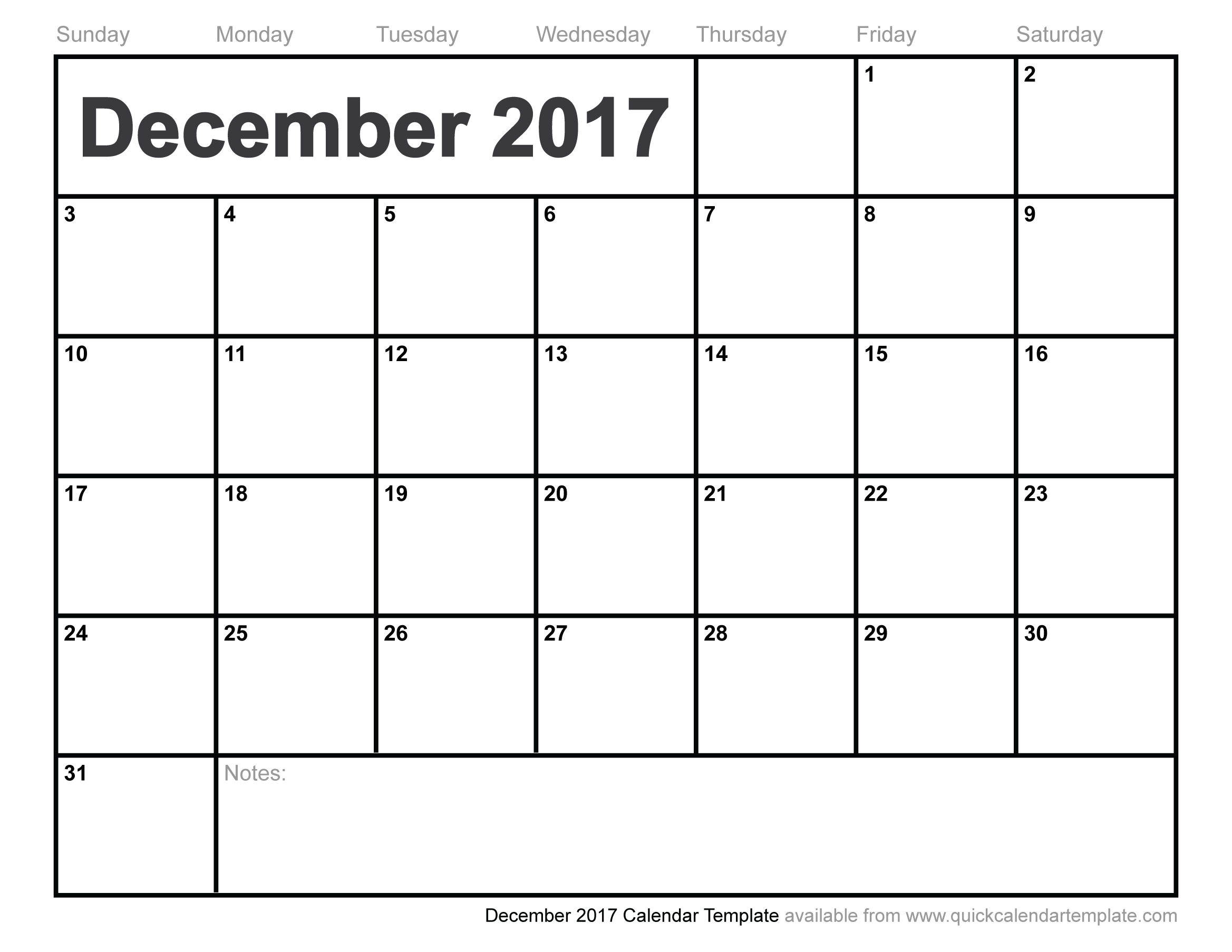 December 2017 Printable Calendar | Printable Calendar Yearly for Blank September October November Calendar Yahoo