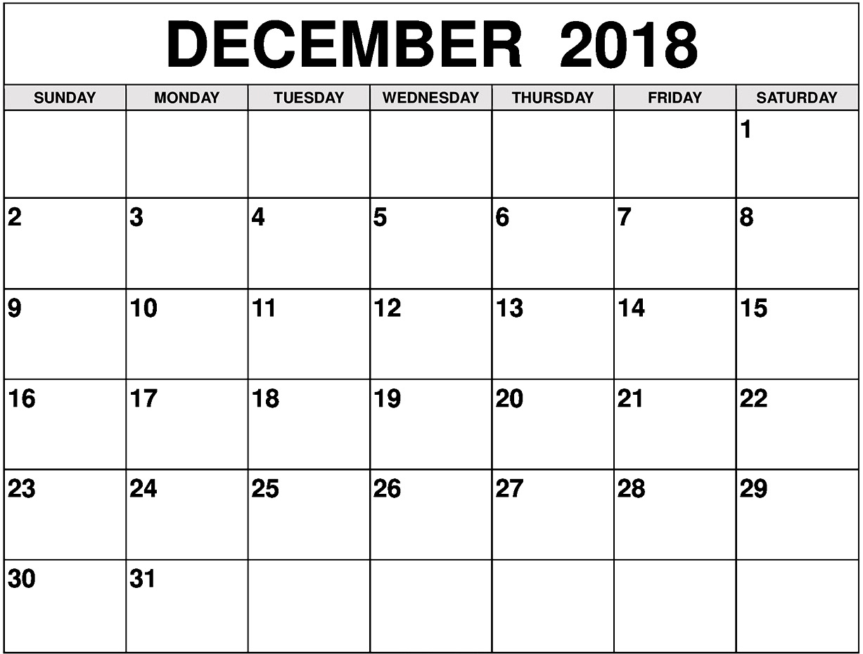 December 2018 Calendar Archives - Free March 2019 Calendar Printable within Blanket Calender Printables For December