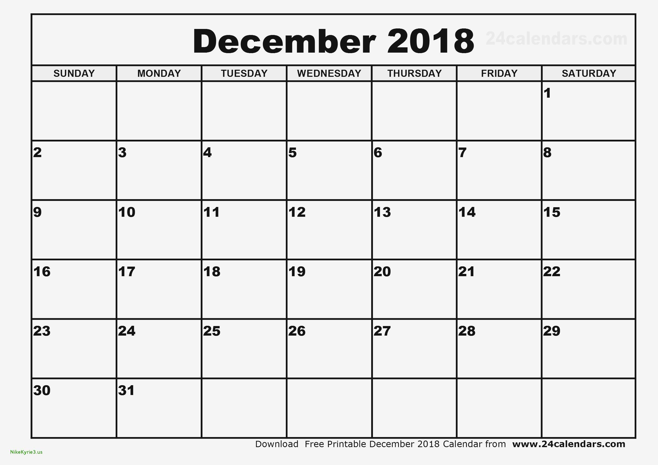 December 2018 Monthly Calendar Printable | Calendar Template with December Monthly Calendar Template
