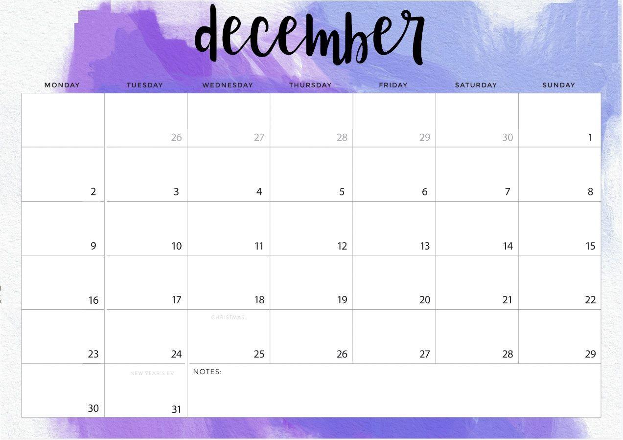 December 2019 Desk Calendar #dec #december #december2019 throughout Calendar For October Thru December 2019