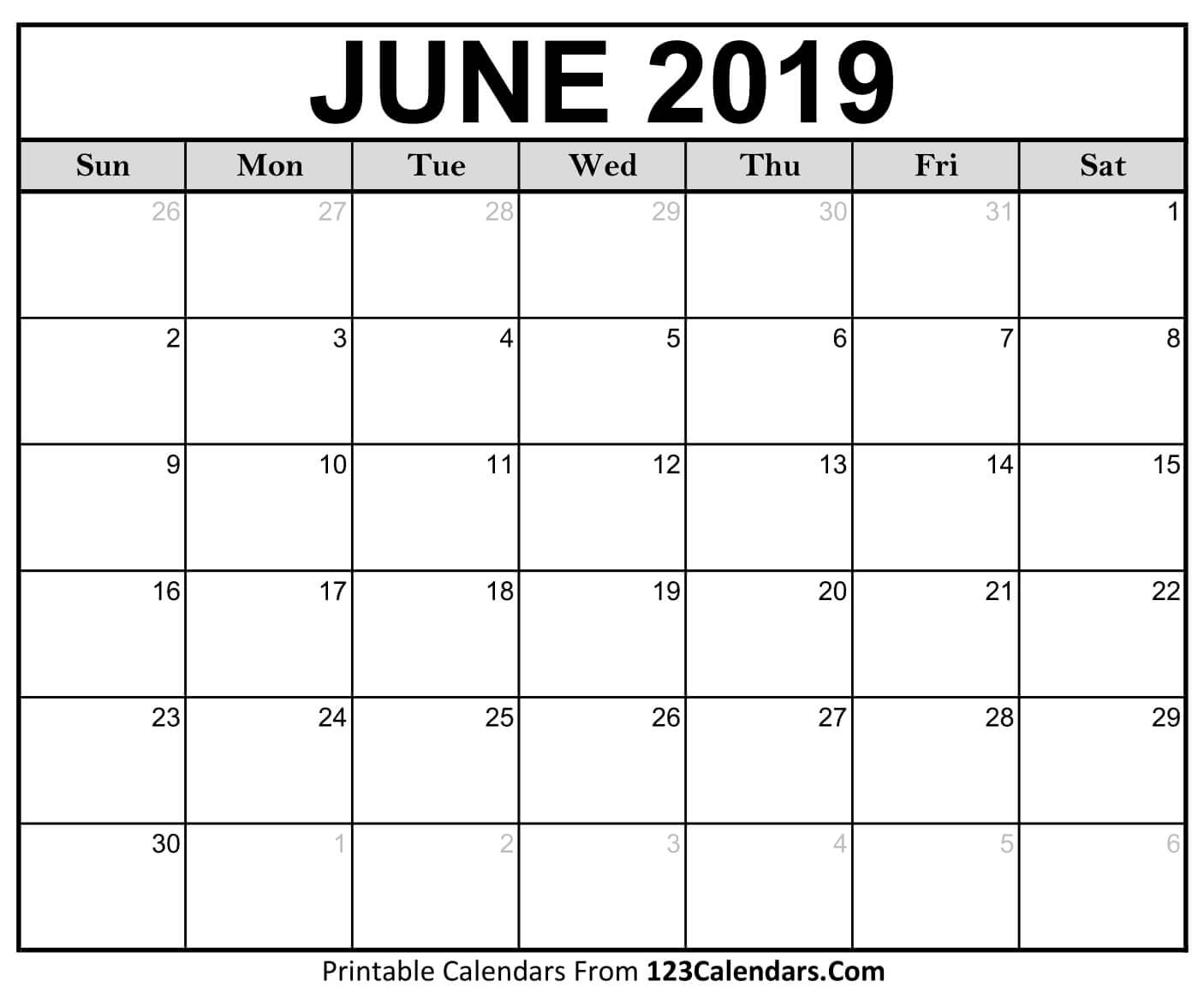 Decorative June 2019 Calendar Pdf Page Excel Word Floral Wallpaper pertaining to Mini Blank June And July Calendar